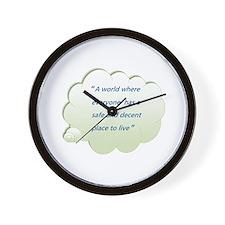 Cute Be safe Wall Clock