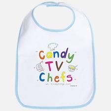 Candy TV Chefs fun logo Bib
