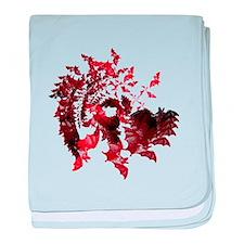 Fibonacci Bats Red baby blanket