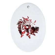 Fibonacci Bats Red Ornament (Oval)