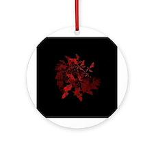 Fibonacci Bats Red Ornament (Round)