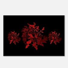 Fibonacci Bats Red Postcards (Package of 8)