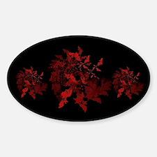 Fibonacci Bats Red Sticker (Oval)