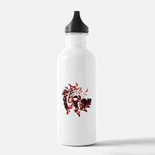 Fibonacci Bats Red Water Bottle