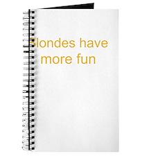 Blonde Fun Journal