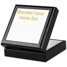 Blonde Fun Keepsake Box