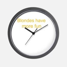 Blonde Fun Wall Clock