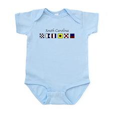 Funny Nautical letters a Infant Bodysuit