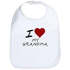 I heart my grandma Bib