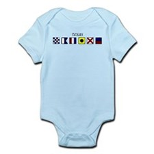 Cute Nautical letters a Infant Bodysuit