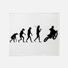 The Evolution Of Motorcross Throw Blanket