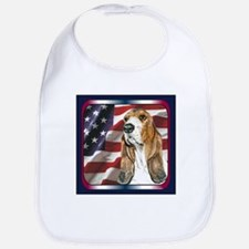 Basset Hound US Flag Bib