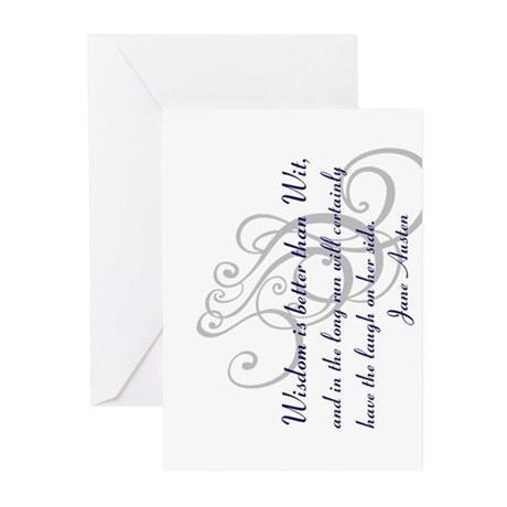 Wisdom is better than Wit Greeting Cards (Pk of 20