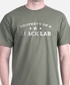 Property of a Black Lab Black T-Shirt