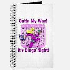 Outta My Way! It's Bingo Night! Journal