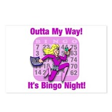 Outta My Way! It's Bingo Night! Postcards (Package