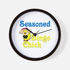 Seasoned Bingo Chick Wall Clock