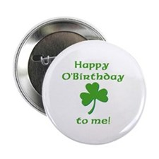 "Happy O'Birthday!! 2.25"" Button (10 pack)"