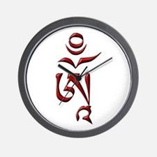 Tibetan Om Wall Clock