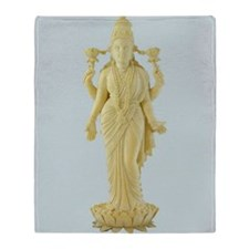 Hindu TriDevi Goddess Statue Art Throw Blanket