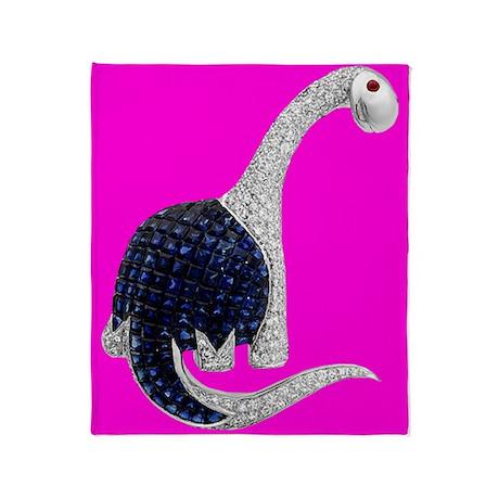 Jeweled Dinosaur Throw Blanket Pink