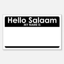 Hello Salaam Decal