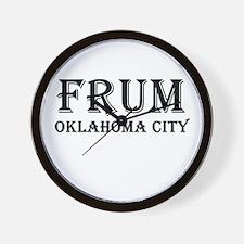 Oklahoma City Wall Clock
