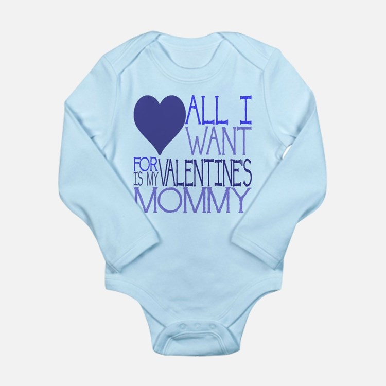 Mommy Valentine Long Sleeve Infant Bodysuit
