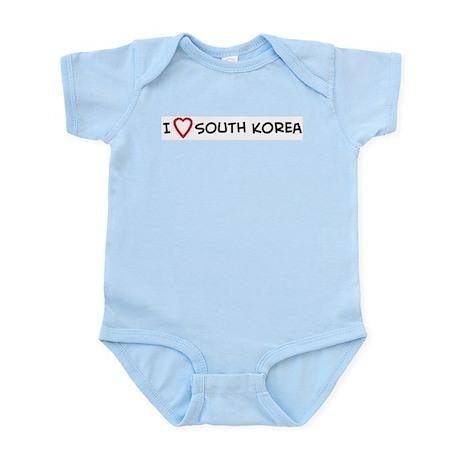 I Love South Korea Infant Creeper