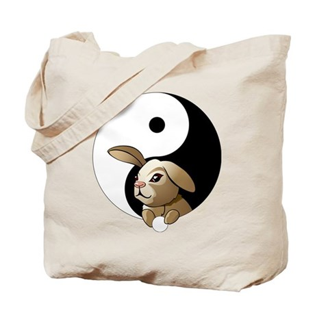 Ying Yang Bunny Tote Bag