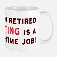 Retired Knitting Gag Gift Mug