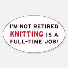 Retired Knitting Gag Gift Decal