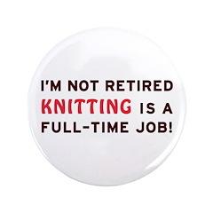 Retired Knitting Gag Gift 3.5