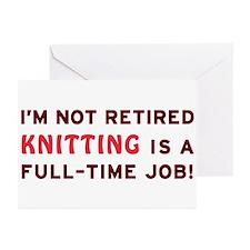 Retired Knitting Gag Gift Greeting Cards (Pk of 10