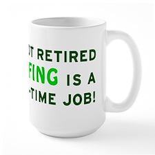 Retired Golfing Gag Gift Mug