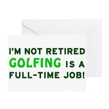 Retired Golfing Gag Gift Greeting Card