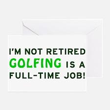 Retired Golfing Gag Gift Greeting Cards (Pk of 10)