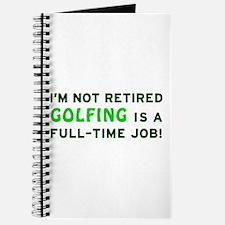 Retired Golfing Gag Gift Journal