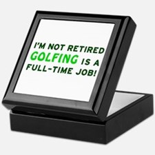 Retired Golfing Gag Gift Keepsake Box