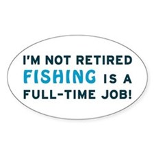 Retired Fishing Gag Gift Decal