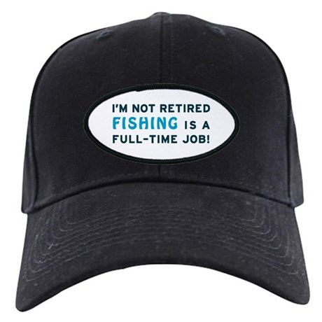 Retired Fishing Gag Gift Black Cap