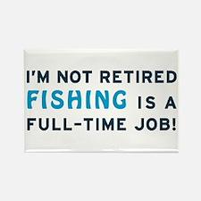 Retired Fishing Gag Gift Rectangle Magnet