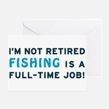 Retired Fishing Gag Gift Greeting Card