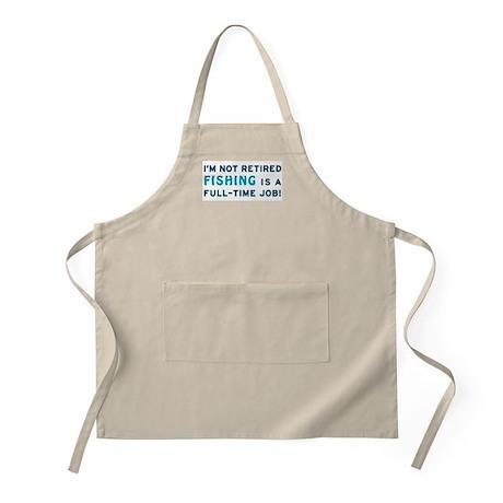 Retired Fishing Gag Gift BBQ Apron