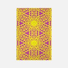 Yellow and Purple Abstract Rectangle Magnet