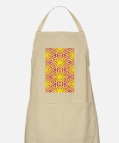 Yellow and Purple Abstract Apron