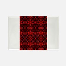 Red and Black Abstract Rectangle Magnet