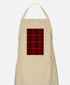 Red and Black Abstract Apron
