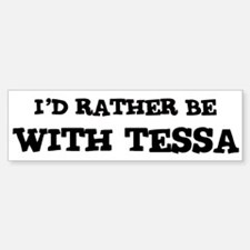 With Tessa Bumper Car Car Sticker