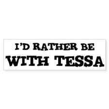 With Tessa Bumper Car Sticker